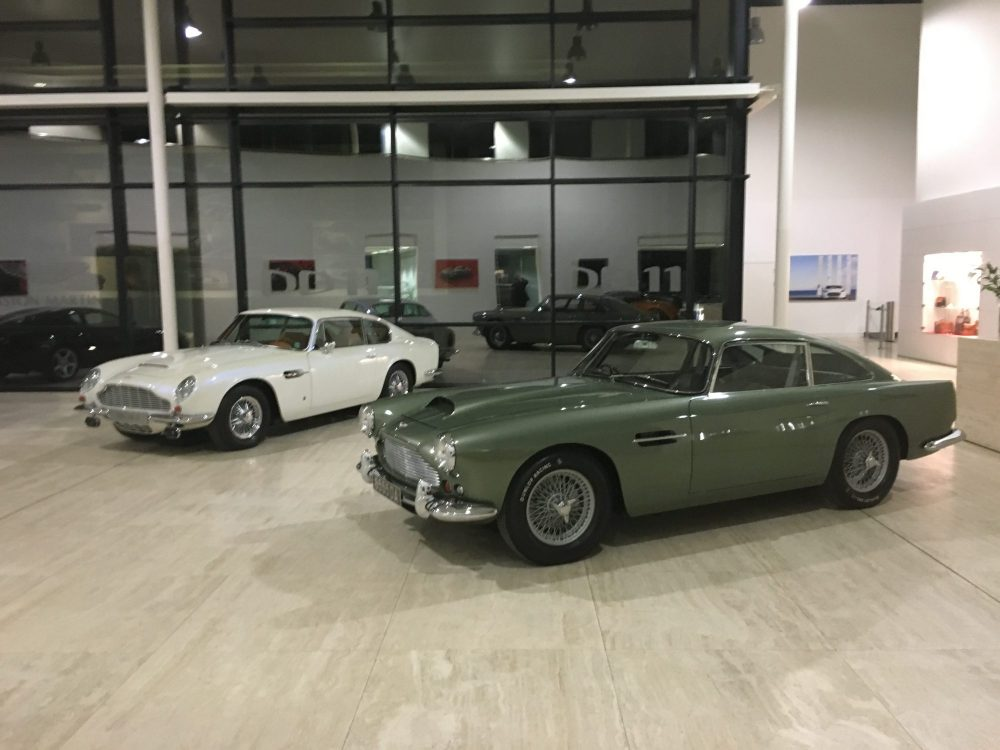 Cars in show room