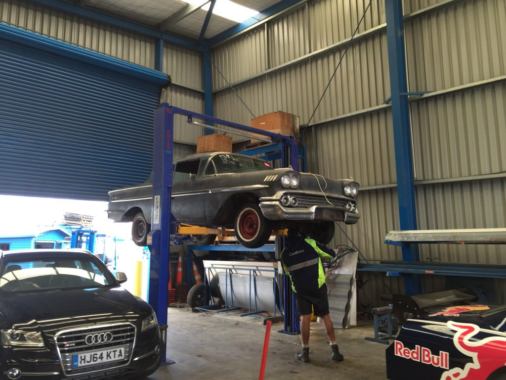 Car in hoist