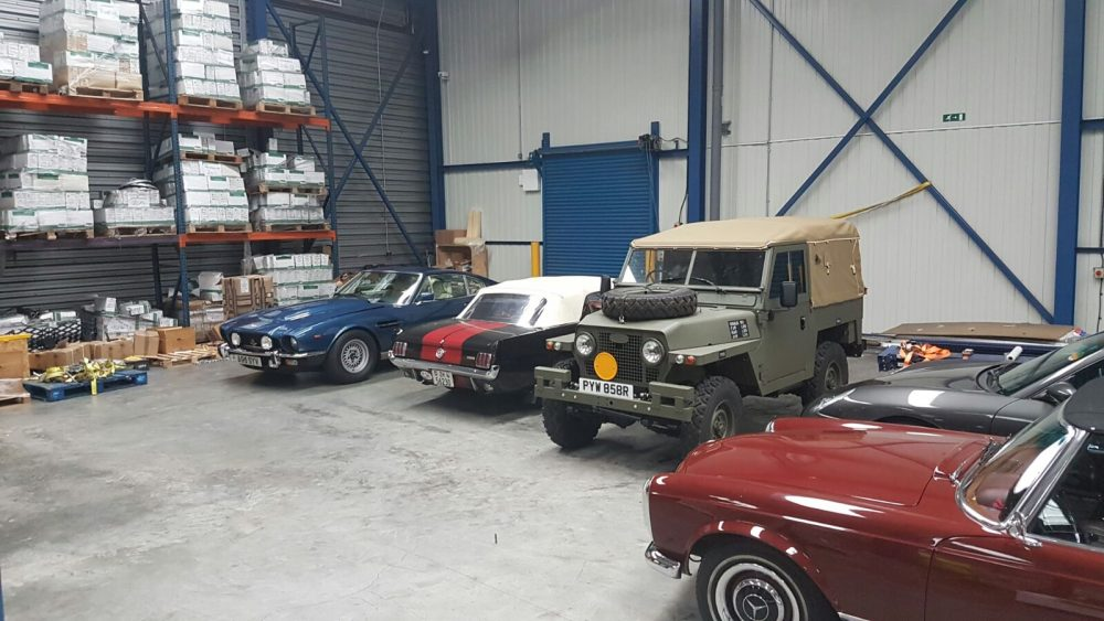 Cars in warehouse